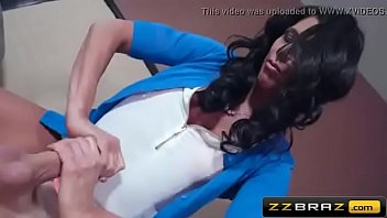 young hung shemale fucking black Chick is pleasuring stud with wild footjob