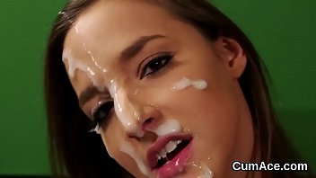 covered sperm face first malezias her gangbang with at Mature forces boy to cum