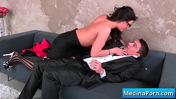 secretary her she boss seduces forced Mexican jack off