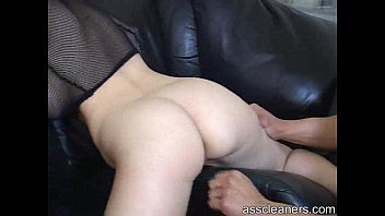 feet cleaning slave cuckold Jade takes a stiff cock in her tight ass