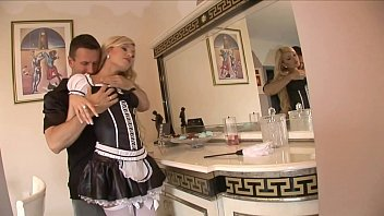 kitchen handjob maid Belle big corsett