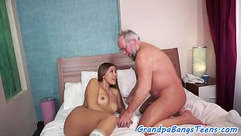 who old man Cum on public girl4