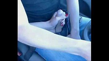 park7 wanks wife stranger in car Jerk on leg
