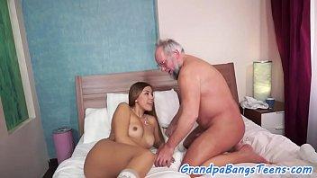 who old man Cum on public girl4